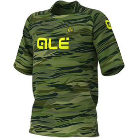 Alé Cycling Off-Road MTB Rock Maillot Manches courtes Homme, green/fluo yellow